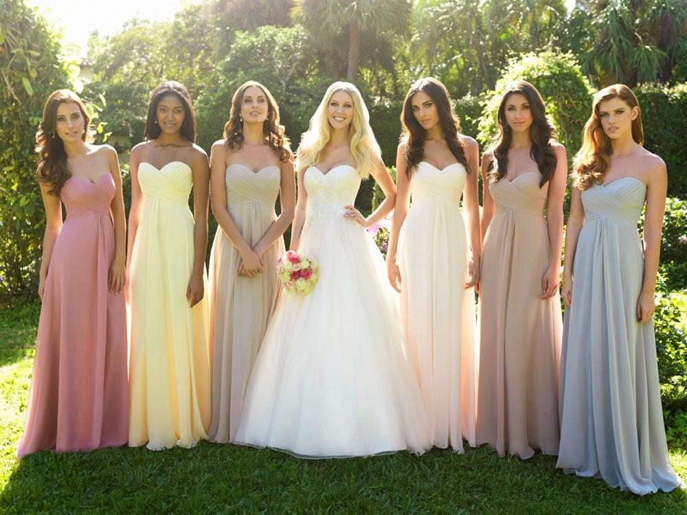 damas de honor para una novia, una moda no tan americana. | mariage